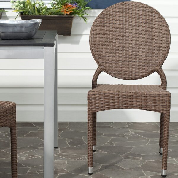 Ekkehard Stacking Patio Dining Chair (Set of 2) by Ebern Designs