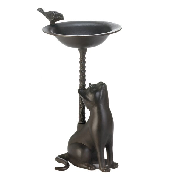 Cat Birdbath by Zingz & Thingz