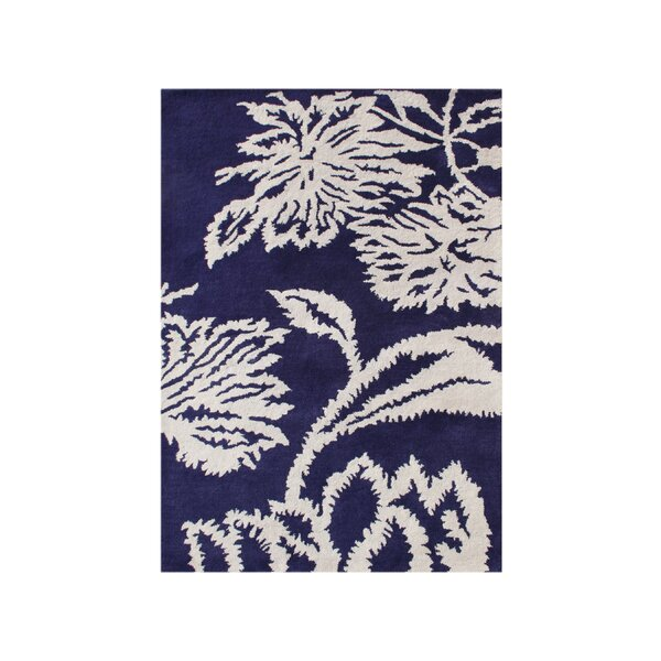 Woodburn Hand-Tufted Blue/White Area Rug by The Conestoga Trading Co.
