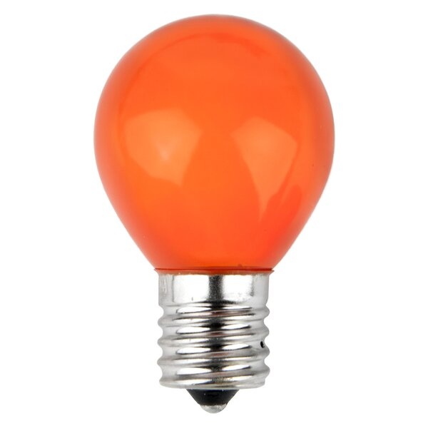 10W Orange 130-Volt Light Bulb (Pack of 25) by Wintergreen Lighting