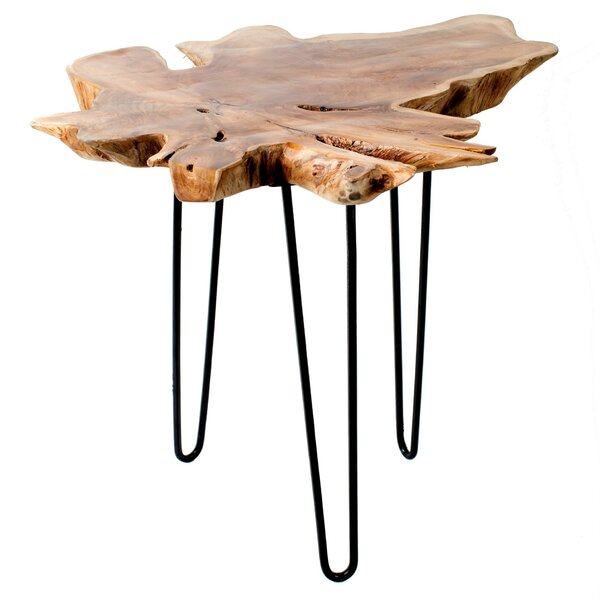 Mcknight Wood Top End Table by Union Rustic