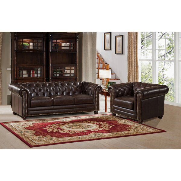 Kensington 2 Piece Leather Living Room Set by Amax