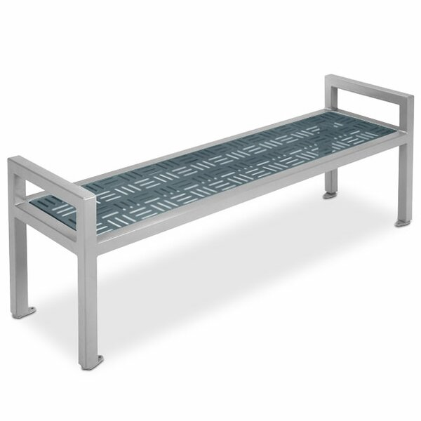 Element Steel Flat Garden Bench with Armrests by Anova