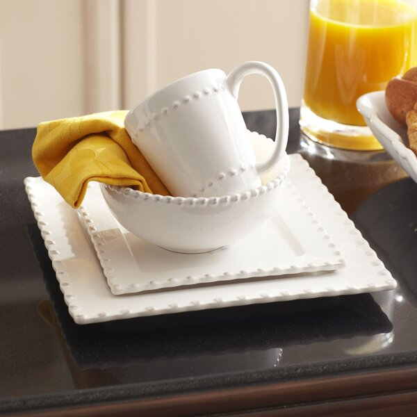 Champney Square 16 Piece Dinnerware Set, Service for 4 by Mint Pantry