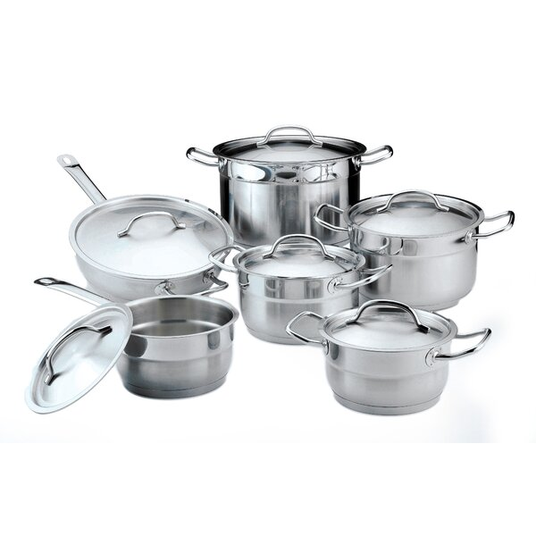 Hotel Line Stainless Steel 12-Piece Cookware Set by BergHOFF International