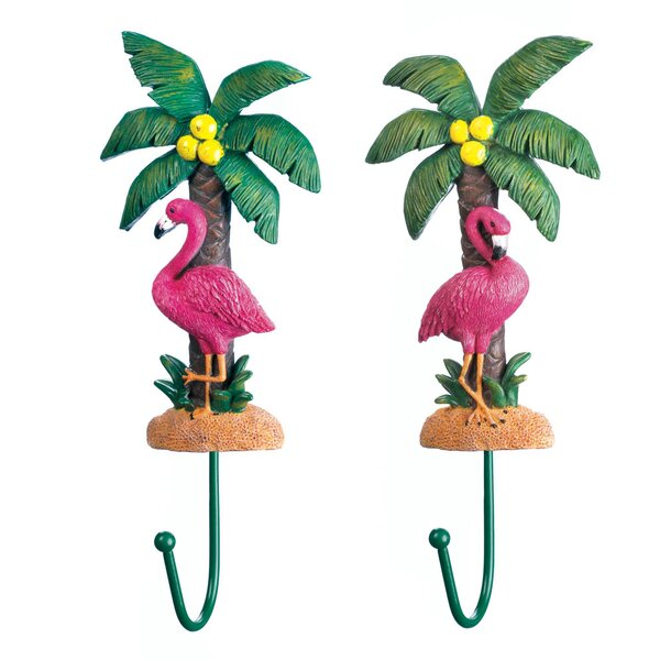Windermere Flamingo Wall Hook (Set of 2) by Bay Isle Home