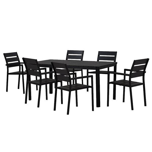 Loewen Modern Contemporary 7 Piece Dining Set by Ivy Bronx