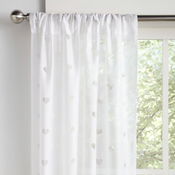 Geometric Semi-Sheer Rod Pocket Curtain Panels (Set of 2) by Birch Lane Kids™
