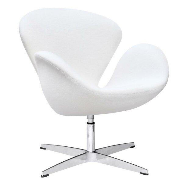Buy Sale Menik Swan Swivel Lounge Chair