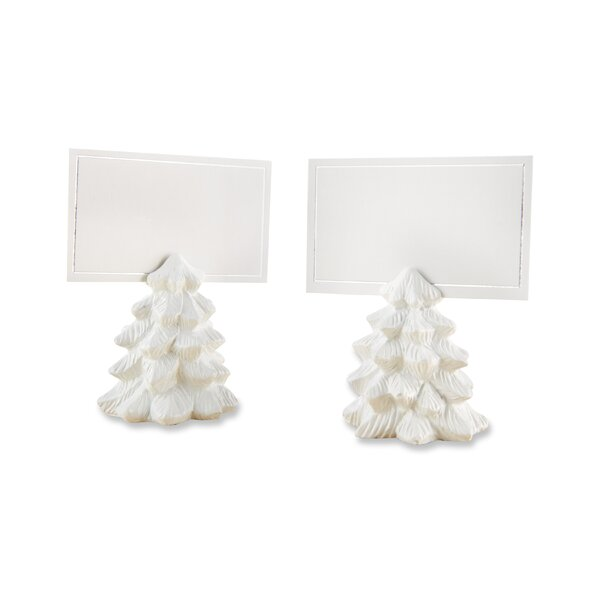 Pine Tree Place Card Holder (Set of 12) by The Holiday Aisle