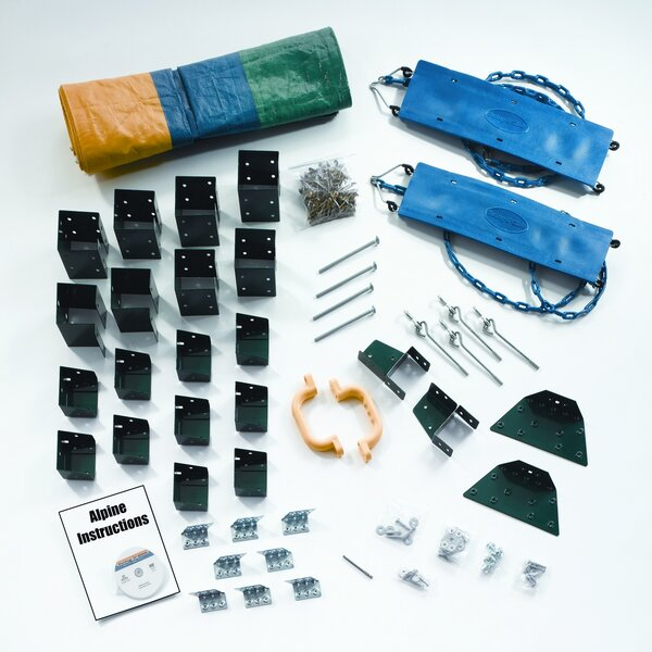 Ready to Build Custom Alpine DIY Swing Set Hardware Kit (Wood Not Included) by Swing-n-Slide