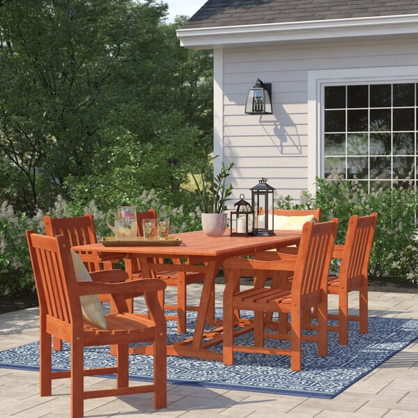 Amabel 7 Piece Dining Set by Beachcrest Home
