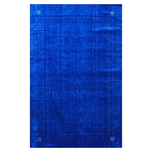Hand-loomed Gabbeh Blue/ Green Wool Rug by Herat Oriental
