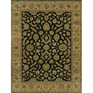 Freeland Hand-Knotted Wool Black Area Rug By Astoria Grand