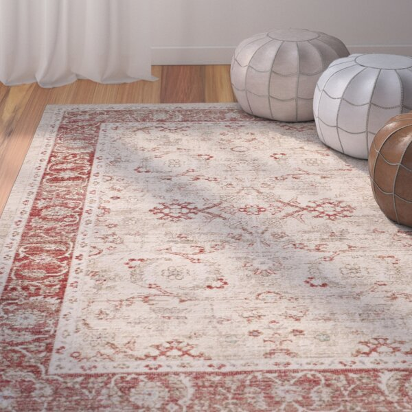 Chauncey Oriental Ivory Area Rug by Bungalow Rose