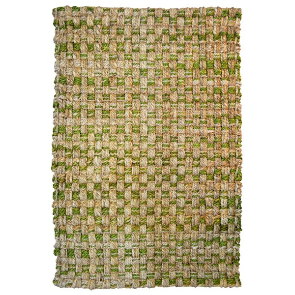 One-of-a-Kind Paulson Hand-Woven Beige/Green Indoor/Outdoor Area Rug by Bay Isle Home
