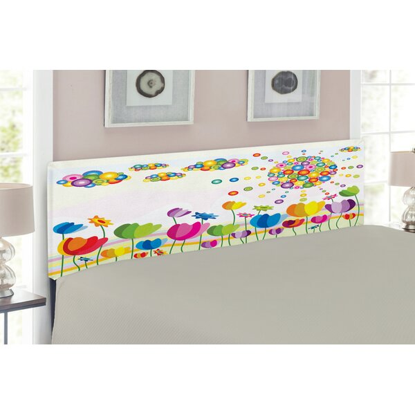Abstract Upholstered Panel Headboard by East Urban Home