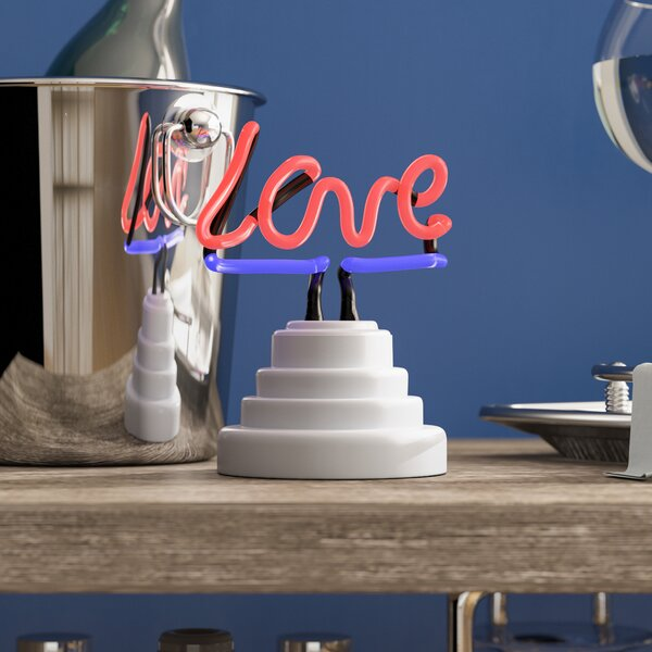 Love Neon Table Lamp by Wrought Studio