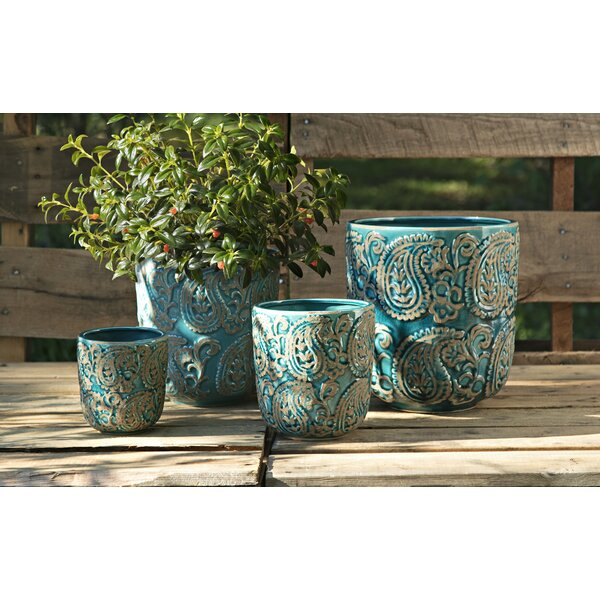 Arika Ceramic Pot Planter Set (Set of 4) by Birch Lane™