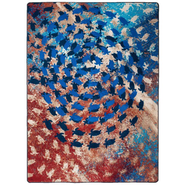 Howley Blue Area Rug by Latitude Run