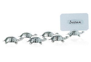 Turtle Place Card Holder (Set of 6) by Corbell Silver Company