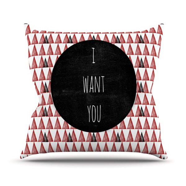 I Want You Outdoor Throw Pillow by East Urban Home