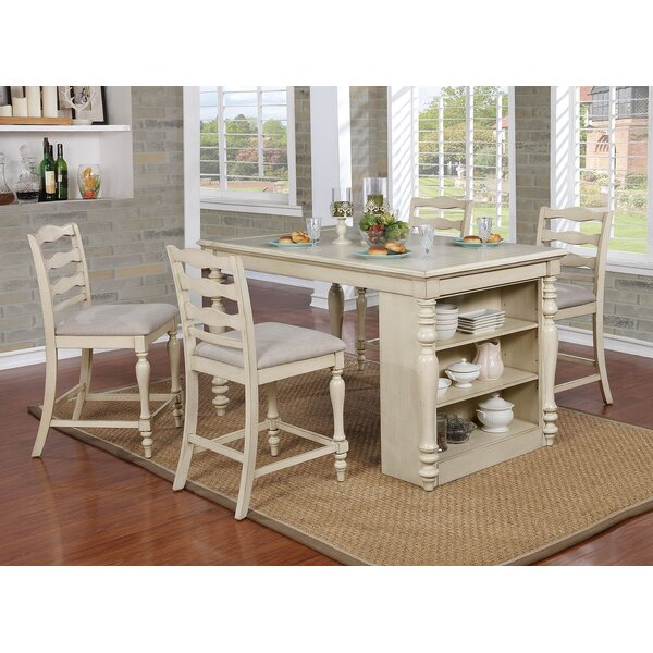 Durlston 5 Piece Counter Height Dining Set By Rosalind Wheeler Coupon