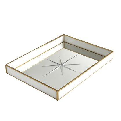 Rectangular Sand Design Glass Serving Trays 2 sizes available