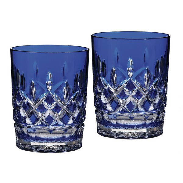 Lismore Cobalt Double Old Fashioned Glass (Set of 2) by Waterford