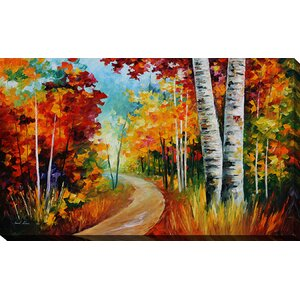 White Birches by Leonid Afremov Painting Print on Wrapped Canvas by Picture Perfect International