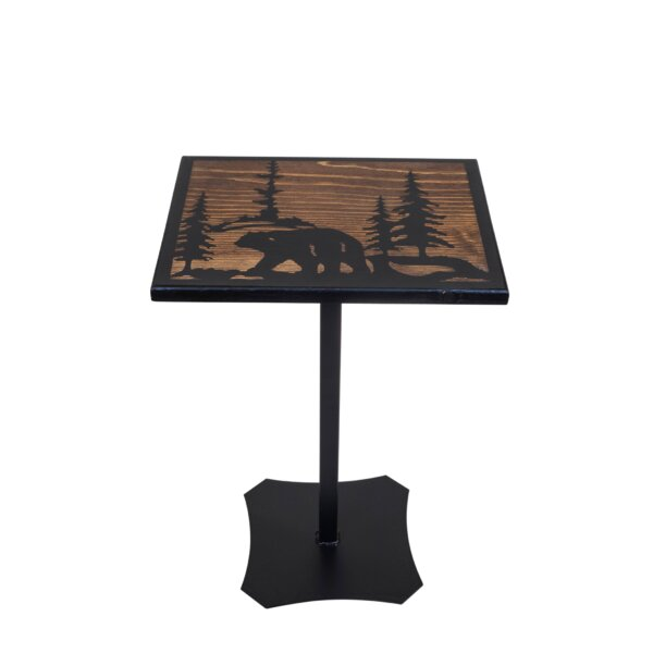 Harldson Pedestal End Table By Millwood Pines