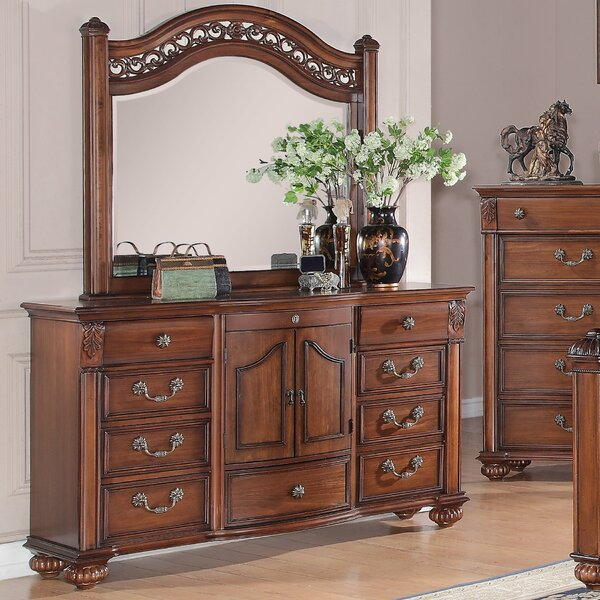 Leigh 9 Drawer Dresser with Mirror by Fleur De Lis Living