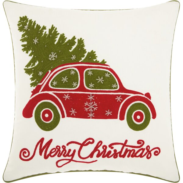 Home for the Holidays Cotton Throw Pillow by The Holiday Aisle