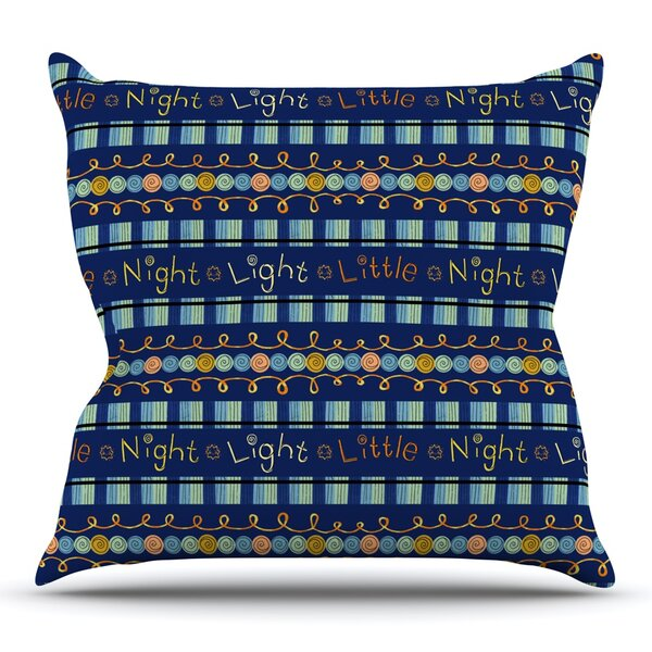 Little Night Light by Jane Smith Outdoor Throw Pillow by East Urban Home