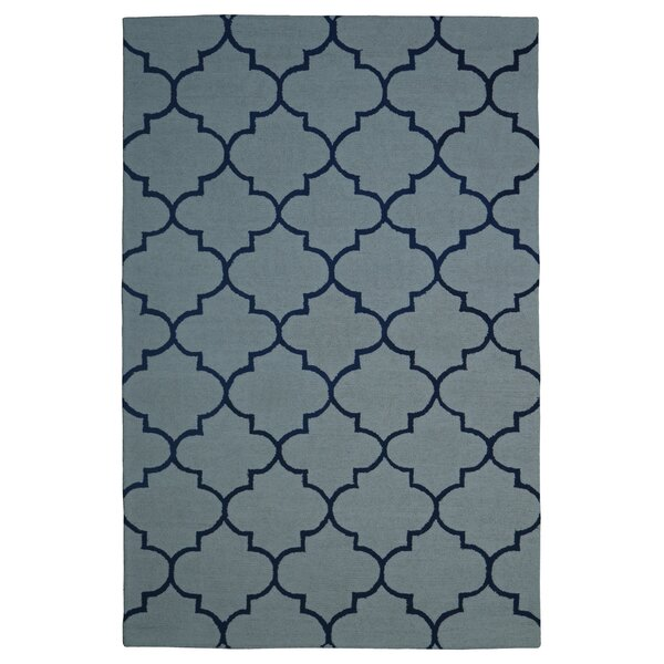 Wool Hand-Tufted Light Blue/Navy Blue Area Rug by Eastern Weavers