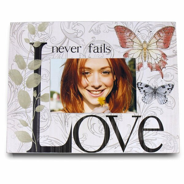 Decorative Love Never Fails Table Desk Top Picture Frame by Adeco Trading