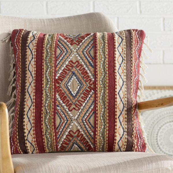 Cammi Square Cotton Throw Pillow by Mistana