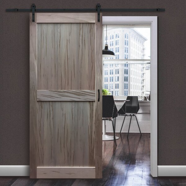 Solid Flush Wood Interior Barn Door by Kimberly Bay