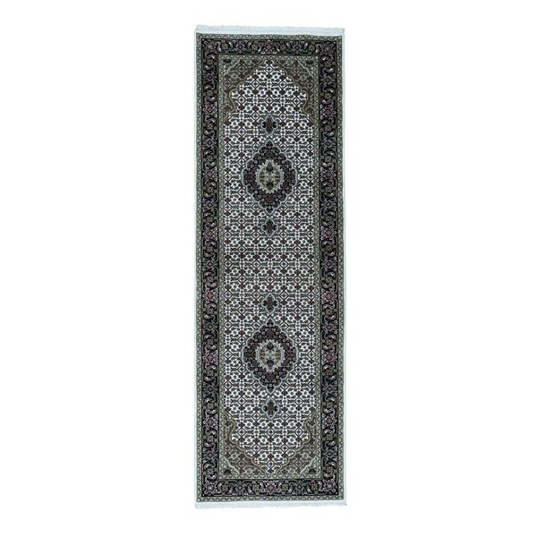 One-of-a-Kind Rudolph Mahi Hand-Knotted Ivory Area Rug by Astoria Grand