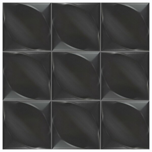 Scania 6 x 6 Ceramic Field Tile in Nero by EliteTile