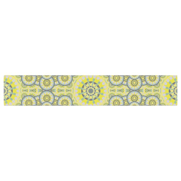 Miranda Mol Multifaceted Flowers Table Runner by East Urban Home
