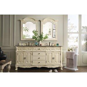 vendome 72 double white bathroom vanity set - Antique White Bathroom Cabinets