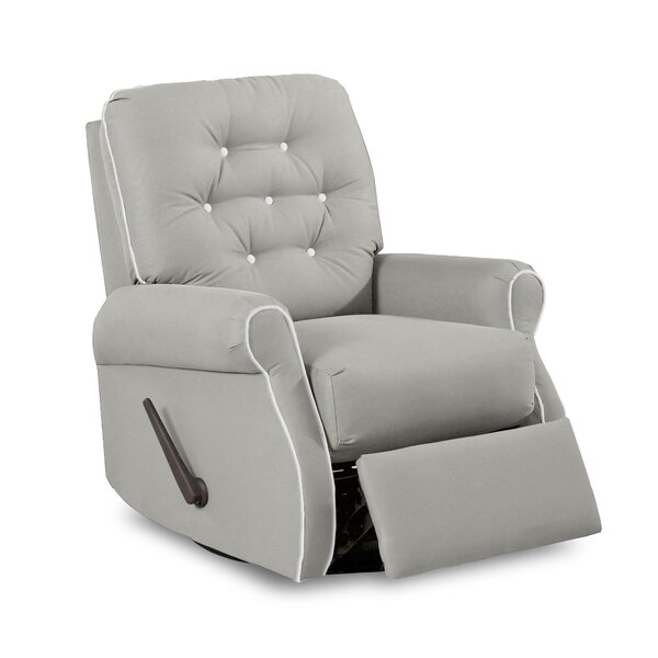 Vinton Swivel Glider Recliner with Contrasting Welt by Wayfair Custom Upholstery™