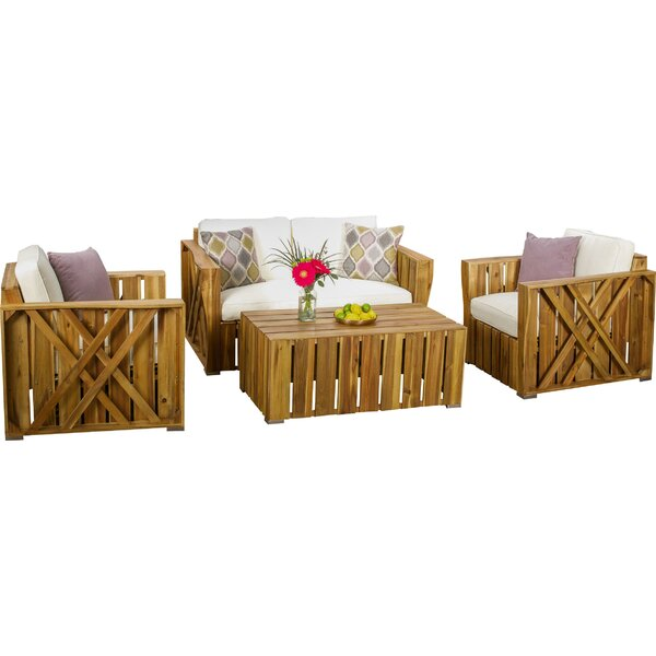 4 Piece Sofa Set with Cushions by Loon Peak