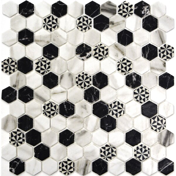 Onix 1 x 1 Glass Mosaic Tile in Emma Malla by Madrid Ceramics