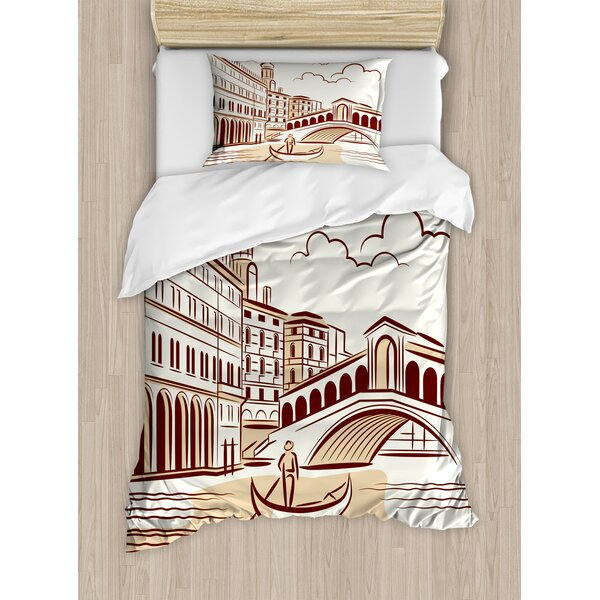 Venice Duvet Cover Set by Ambesonne