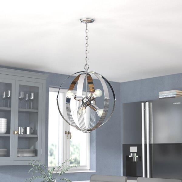 Branscome 6 - Light Sputnik Sphere Chandelier with Rope Accents by Brayden Studio Brayden Studio