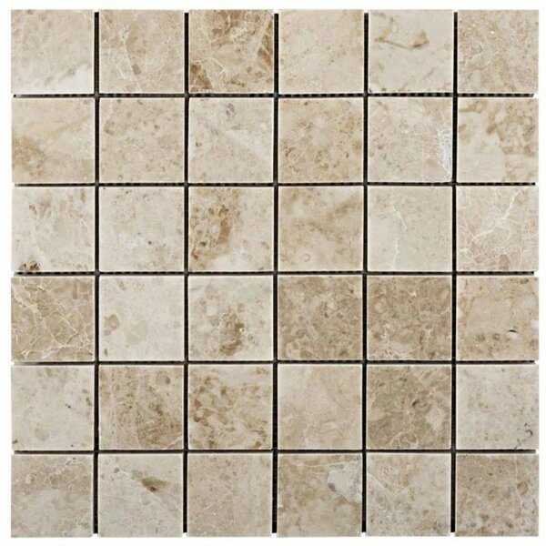 2 x 2 Marble Grid Mosaic Wall & Floor Tile