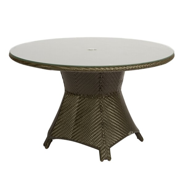 Trinidad Round Umbrella Dining Table by Woodard