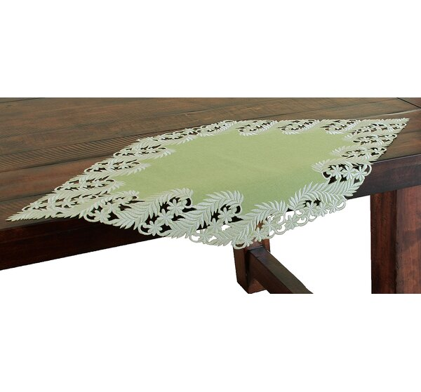 Laurel Embroidered Cutwork Table Runner by Xia Home Fashions